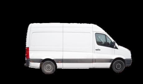 véhicule utilitaire blanc